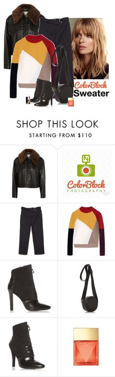 """""""Color Block"""" by katiethomas-2 ❤ liked on Polyvore featuring 3.1 Phillip Lim, Carven, Michael Kors and Gucci"""