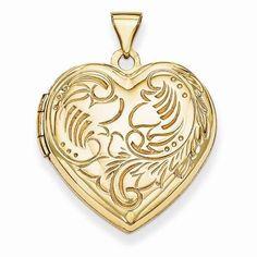 "NEW 14K YELLOW GOLD  PHOTO T EXTURED HEART DOMED LOCKET 1.02"" PENDANT 2.29g #Locket"
