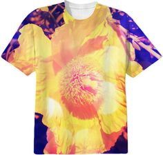 Eerie Amethyst Yellow Poppy Blossom T-Shirt from Print All Over Me