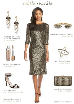Sequin dress for a semi-formal wedding