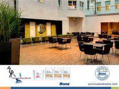 Clarion Hotel Plaza, Sweden Cuando el hotel sueco fue renovado, los productos de Bona fueron usados todo el trabajo de renovación incluyendo las máquinas principalmente - Bona Optispread. Una vez que el piso fue sujetado con la ayuda de Bona Optispread, fue tratado con Bona Mix&Fill, terminado con Bona Prime Deep intenso y tres capas de Bona Mega Extra Matte. #pisosdemadera #BonaMexico http://www.quinovaacabados.com/productos-bona/