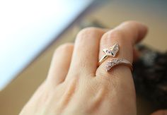 Fox Ring Women's Adjustable Crystal Animal Ring by authfashion
