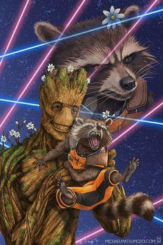 Rocket Raccoon y Groot Marvel Comic Universe, Comics Universe, Marvel Art, Marvel Dc Comics, Marvel Heroes, Marvel Cinematic Universe, Marvel Avengers, Bucky Barnes, Deadpool