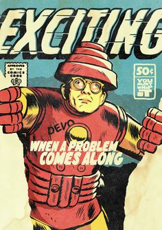 Mark Mothersbaugh of Devo as Iron Man All-New Superpowered Post-Punk Marvels is a new and awesome illustrated project by Brazilian designer Butcher Billy that reimagines famous post-punk and new wa...