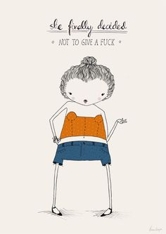 Art print quote poster girl illustration // She by agrapedesign