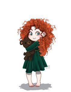 Baby Disney - Merida by *Eley0n on deviantART