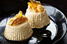 This beautiful coffee and almond dessert is the perfect end to your gourmet dinner menu.