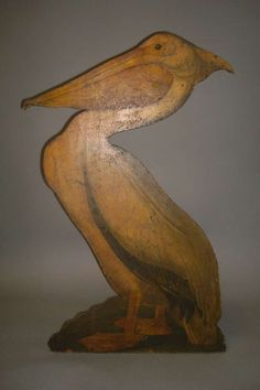Interesting Late 19th Century Painted Pelican