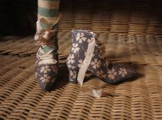 Gray Floral Boots By Marbled Halls SD for by MarbledHalls on Etsy, $60.00