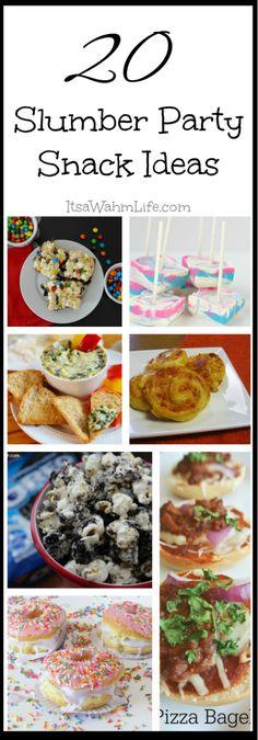 20 Slumber Party Snack Ideas ItsaWahmLife.com