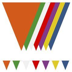 Multi-farvet Nylon Vimpel Guirlande