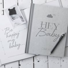Baby Journal and Record Book: New White Edition «  Illustries – Books for sharing life's best moments