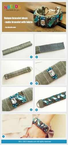 Unique Bracelet Ideas - Make Bracelet With Fabric by Amanda Wong | Project | Jewelry / Accessories | Kollabora