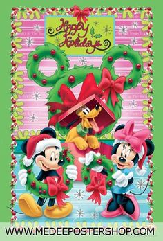 Christmas - Disney - Mickey & Minnie Mouse & Pluto
