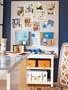 DIY office storage solutions can be customized to fit your exact space and can be WAY more budget-friendly than store-bought desk organizers. Try these smart tactics from @JennaBurger to organize even the smallest offices, including colorful magazine holders, a chic inspiration board and more.