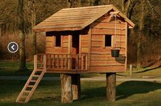 Playhouse. great idea to place swing