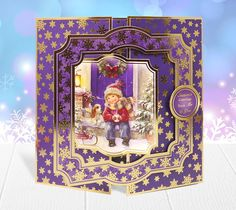 Everyones Christmas wish should be to have a best friend like this boy and his dog. Truly heartwarming! This card is made from the Christmas Traditions Collection