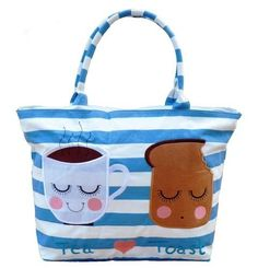Kate Garey Tea and Toast Tote - Two of my favourite things - on a BAG!!!!