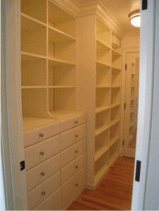 'walk through closet'