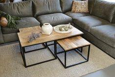 Simple Living Room Decor, Table Decor Living Room, Home Living Room, Living Room Designs, Welded Furniture, Diy Furniture, Center Table, Open Plan Living, Home Interior Design