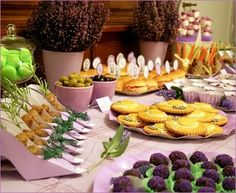 wedding - for the lavender wedding check out this buffet