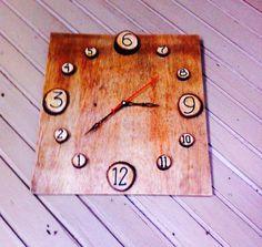 Jam Dinding Dari kayu bahan daur ulang 471ee898a6