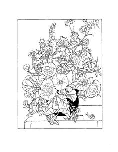 Coloring Book Pages Flowers