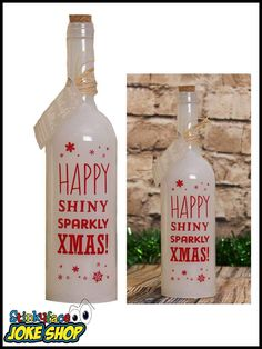 Brighten up someone's day with this gorgeous Sparkly Christmas Starlight Bottle. This is a perfect gift for a special person in your life. Funny Gifts For Her, Xmas, Christmas, Vodka Bottle, Seasons, Weihnachten, Weihnachten, Seasons Of The Year, Navidad