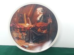 Reflections a Norman Rockwell Mothers Day Series Plate COA Knowles Bradford  #NormanRockwell #MothersDay