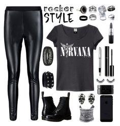 """""""ROCKER CHICK"""" by dianakhuzatyan ❤ liked on Polyvore featuring Boohoo, Dr. Martens, LULUS, Valentino, Accessorize, West Coast Jewelry, Palm Beach Jewelry, Lord & Taylor, MAC Cosmetics and Chanel"""