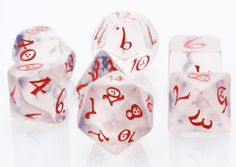 Elven Dice (Classic Ice) | RPG Role Playing Game Dice Set