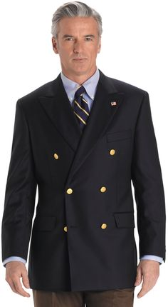$798, Navy Double Breasted Blazer: Brooks Brothers Country Club Saxxon Wool Double Breasted Blazer. Sold by Brooks Brothers. Click for more info: https://lookastic.com/men/shop_items/36839/redirect