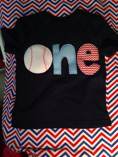 One baseball shirt, first birthday baseball theme shirt on Etsy, $20.00