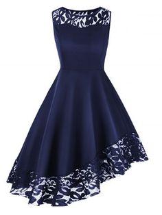 Plus Size Round Neck Lace Hem Dress - Black - . - Plus Size Round Neck Lace Hem Dress – Black – women - Casual Dresses, Short Dresses, Fashion Dresses, Prom Dresses, Formal Dresses, A Line Dresses, Elegant Dresses, Dress Prom, Summer Dresses