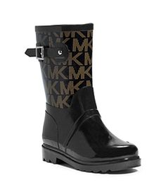 Logo Rubber Rain Boot by Michael Kors