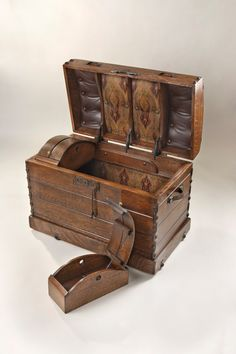Steamer Trunk, Storage Trunk, Custom Camelback Trunk
