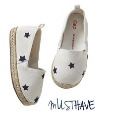Star espadrilles  for girls , too cute!