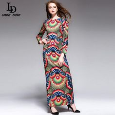 Floral Print Long Dress Women's Elegant Holiday Maxi Dress Tag a friend who would love this! www.sukclothes.co... #shop #beauty #Woman's fashion #Products