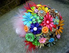 Brooch Bouquet - colourful, enamel and no bling = perfect