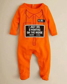 Prison baby..omg perfect 1st halloween costume!!! So cute and funny!!