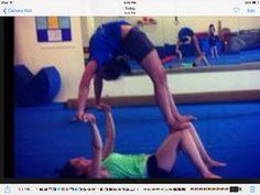 yoga poses for 2 easy Gymnastics Stunts, Gymnastics Tricks, Acrobatic Gymnastics, Cheer Stunts, Gymnastics Workout, 2 Person Yoga Poses, Partner Yoga Poses, Acro Dance, Pole Dance