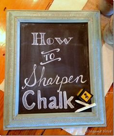 How to Sharpen Chalk for easier sign making!