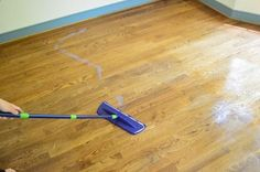 Wax on wax off! A few real-life tips for scrubbing, cleaning, and re-sealing old hardwood floors.