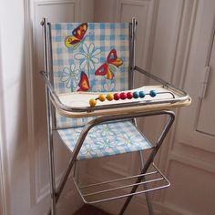 Chaise haute poupée Vintage   Les Moustachoux Vintage Shop