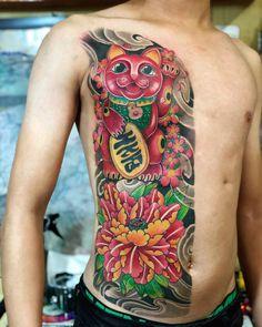 Daruma Doll Tattoo, Hannya Mask Tattoo, Full Back Tattoos, Koi Fish Tattoo, Japanese Tattoo Art, Asian Tattoos, Japan Tattoo, Oriental Tattoo, Irezumi Tattoos