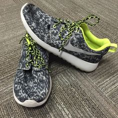 Nike Roshe Run Tennis Shoes Hardly worn, Roshe run shoes. Lime green. Original laces. Great condition size 8. Nike Shoes Sneakers