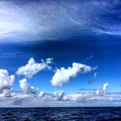Blue seas, blue skies on the way back from the #treshnishisles #scotland