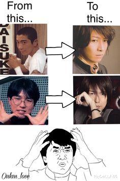 Ono Daisuke x Kamiya Hiroshi   Ono-san looks awesome back then!
