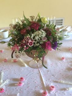 Wedding Table, Barn, Table Decorations, Flowers, Plants, Furniture, Home Decor, Converted Barn, Decoration Home