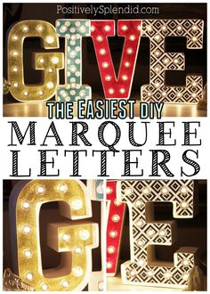 A tutorial for easy DIY marquee letters. #MichaelsMakers